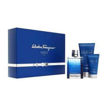 Salvatore Ferragamo Acqua Essenziale Blu Kit Eau de Toilette + Shower Gel + Dopobarba